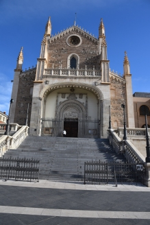 I passed the San Jerónimo el Real (St. Jerome the Royal) Roman Catholic church from the early 16th-century on my way to lunch with Florentino, the head of the department where I will be teaching, and Guillermo, who taught for us at Villanova University this past fall.