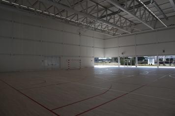 Indoor soccer, uh, futbal.