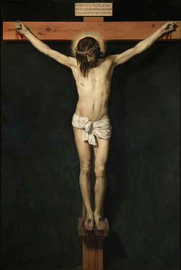 The crucified Christ; Diego Rodríguez de Silva y Velázquez.