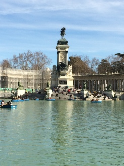 Walk through the Retiro on the way to the Museo de Reina Sofia