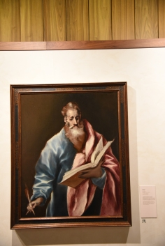We began our visit to Toledo at the El Greco Museum. Born in Crete, he made his way in 1577 to live in Toledo. The museum there now begins its exhibition with his series on the Apostles.