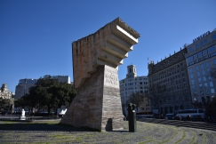 A monument in honor of Catalonia, a region with long identity.