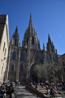 Barcelona Cathedral, begun in 1298; built over Roman ruins.