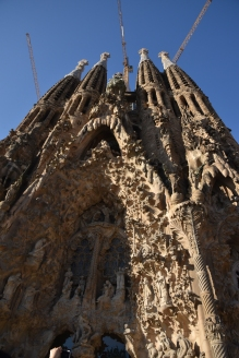 Sagrada Familia; unfinished cathedral designed by Gaudi.