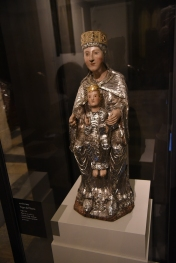 A carving of Mary and Jesus from the 13th century.
