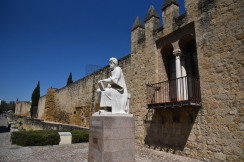 Statue of Alverroes by the old city wall. http://www.iep.utm.edu/ibnrushd/