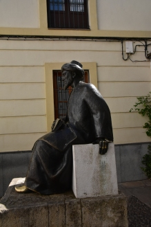 A statue of Maimonides, the great Jewish intellectual.