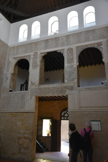 The synagogue is small; from the early 14th century.