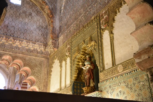 The royal chapel in the Mezquita where royalty used to be buried.