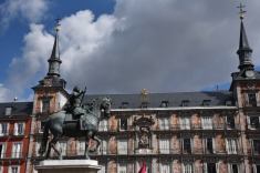 Philip II in the Plaza Mayor.