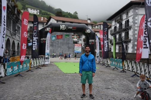 "Erick ran in a 40 mile race through the Pyrenees. The ""track"" went up and down for 5 miles of elevation changes over wet grassy or muddy hills and mountains. It had rained the nigh tbefore and during the run, making footing very difficult."