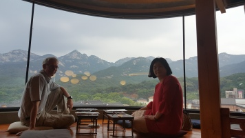 What a view at dinner with Seohyung.