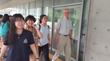 Witth Big History students at Hana Academy.